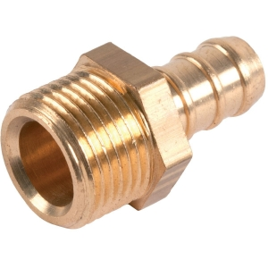 "Raccord droit - M 1/2"" - Flexible polyester pression au mètre - Sélection Cazabox"