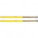 Fixation radiateur 240 mm - Plâtre et polystyrène - Sachet de 2 - ING Fixation