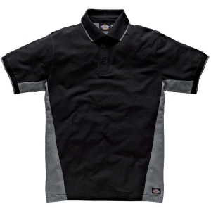 Polo gris / noir - Two tone - Taille S - Dickies