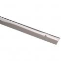 Bande de seuil percée - Longueur 0,83 m - Inox poli - Profilpas