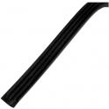Joint adhésif nervuré noir - longueur 15 m - Caoutchouc - Ellen