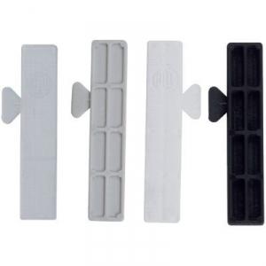 Cale de vitrage noire - 80 x 24 mm - 5 mm - Sachet de 1000 - Goettgens