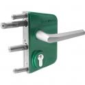 Serrure de portail en applique verte - Clé I - Axe à 30 mm - Profil 40 à 60 mm - LAKQ - Locinox
