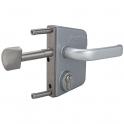 Serrure de portail coulissant en applique inox - Clé I - Axe à 30 mm - Profil 50 mm - LSKZ - Locinox