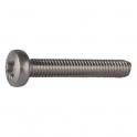 Vis métaux tête cylindrique bombé PZ2 - Ø 5 mm - 16 mm - Inox - Boîte de 200 pièces - Viswood