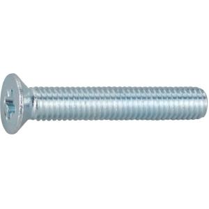 Vis métaux tête fraisé PZ3 - Ø 8 mm - 30 mm - Zingué blanc - Boîte de 200 pièces - Vissal