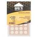 Cache vis PVC Brun - Sachet de 100 pièces - GFD GLE Forgeage