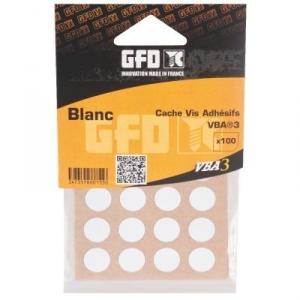 Cache vis PVC Blanc - Sachet de 100 pièces - GFD GLE Forgeage