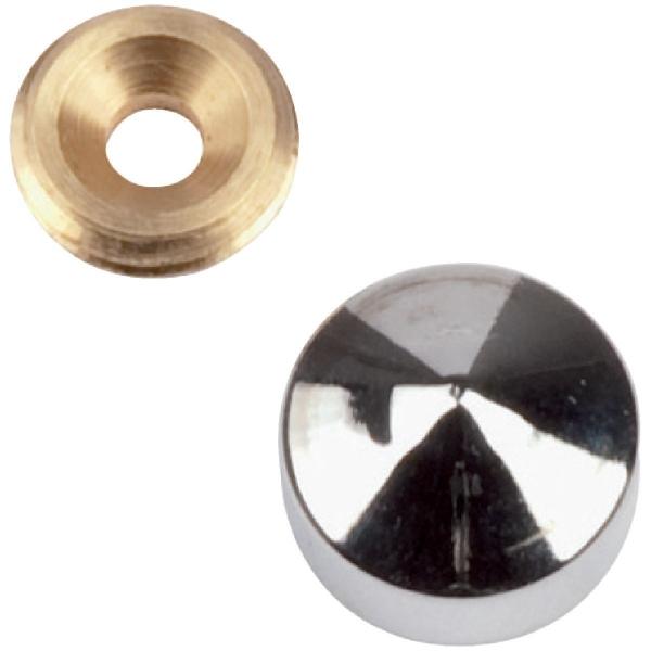 Cache vis marbier chromé - Ø 18 mm - Métaux Ouvres et Décorés