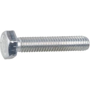 Vis métaux tête hexagonal - Ø 8 mm - 16 mm - Zingué blanc - Boîte de 100 pièces - Vissal