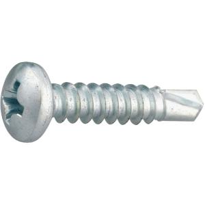 Vis tôle tête cylindrique bombé PH2 - Ø 3,9 mm - 13 mm - Zingué blanc - Boîte de 500 pièces - Viswood