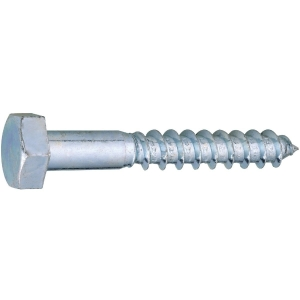 Vis bois tête hexagonal - Ø 16 mm - 180 mm - Zingué blanc - Boîte de 25 pièces - Viswood
