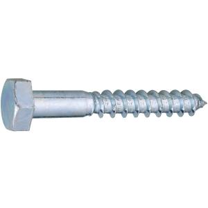 Vis bois tête hexagonal - Ø 8 mm - 60 mm - Zingué blanc - Boîte de 100 pièces - Viswood