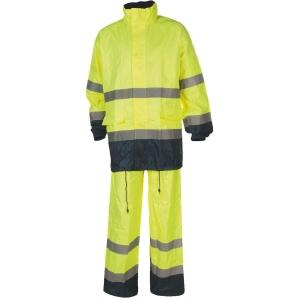 Ensemble de pluie jaune / noire - Hi-Way - Taille M - Coverguard