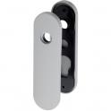 Plaque gris manhattan - Bec de cane - 165 mm - NY92F et NY94F - La paire - Normbau