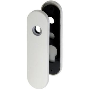 Plaque blanche - Bec de cane - 165 mm - NY92F et NY94F - La paire - Normbau