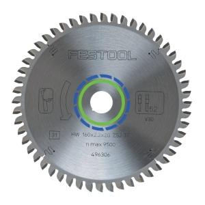 Lame de scie à denture plate trapèze - Ø 160 mm - 52 dents - Festool