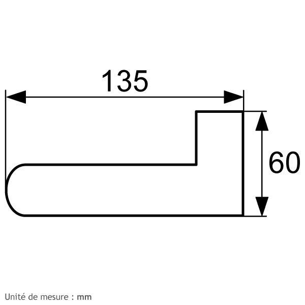 b quille de porte double blanche carr 7 ny92f. Black Bedroom Furniture Sets. Home Design Ideas