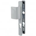 Poignée de porte palière blanche - Clé I - entraxe 70 mm - PE 24 - Vachette