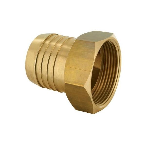 Racord laiton cannelé droit - F 1' - Tuyau Ø 25 mm - Codital