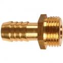 """Raccord PE strié mâle laiton - M 1"""" - Tube PE 25 mm - Puteus"""
