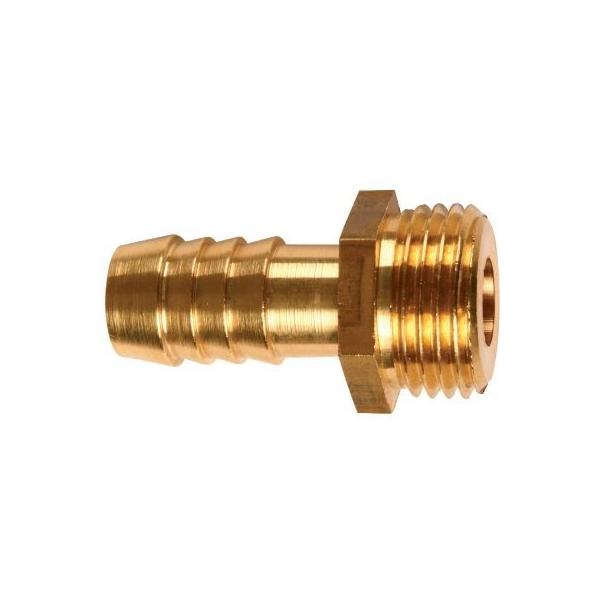 Racord laiton cannelé droit - M 1' - Tuyau Ø 25 mm - Puteus