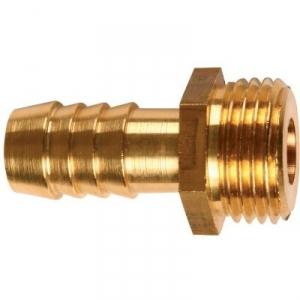"Raccord PE strié mâle laiton - M 1/2"" - Tube Ø 15 mm - Codital"