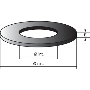 Joint de soupape - 60 x 35 x 6 mm - Nord picardie joints