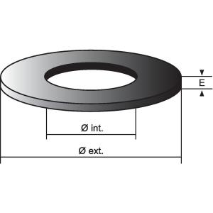 Joint de soupape - 70 x 45 x 6 mm - Nord picardie joints