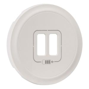 Enjoliveur blanc - Prise double chargeur USB - Legrand