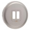 Enjoliveur titane - prise double chargeur USB - Legrand