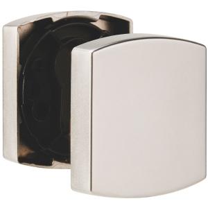 Rosace carrée chromée velours - Borgne - Muze et Artis - La paire - Vachette