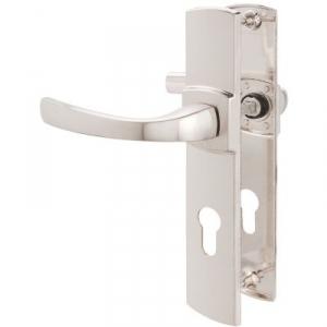 Poignée de porte sur plaque platine - Clé I - 220 mm - Muze - Vachette