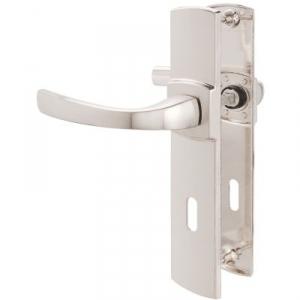 Poignée de porte sur plaque platine - Clé L - 220 mm - Muze - Vachette