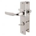 Poignée de porte sur plaque platine - Codamnation - 220 mm - Artis - Vachette