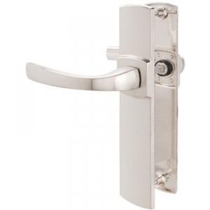 Poignée de porte sur plaque platine - Bec de cane - 220 mm - Muze - Vachette