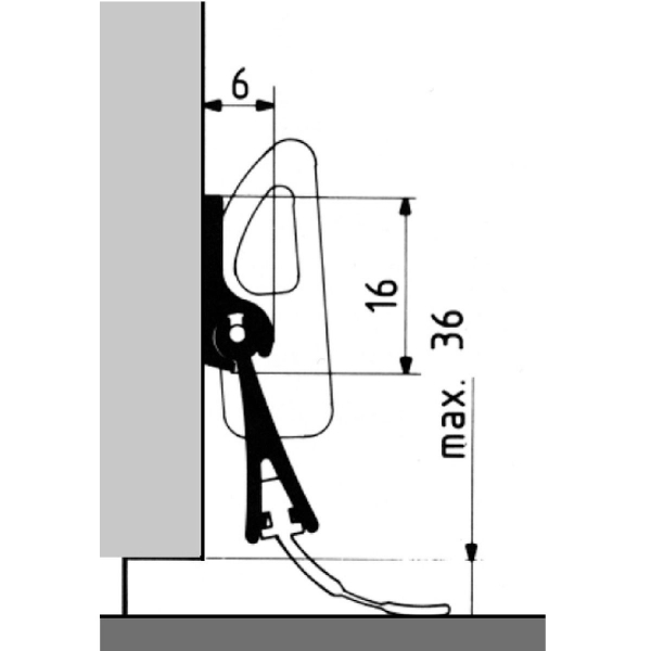 plinthe aluminium pivotante 0 83 m bas de porte port. Black Bedroom Furniture Sets. Home Design Ideas