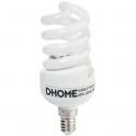 Ampoule fluocompacte Spirale - E14 - 15 W - 2800 K - Dhome