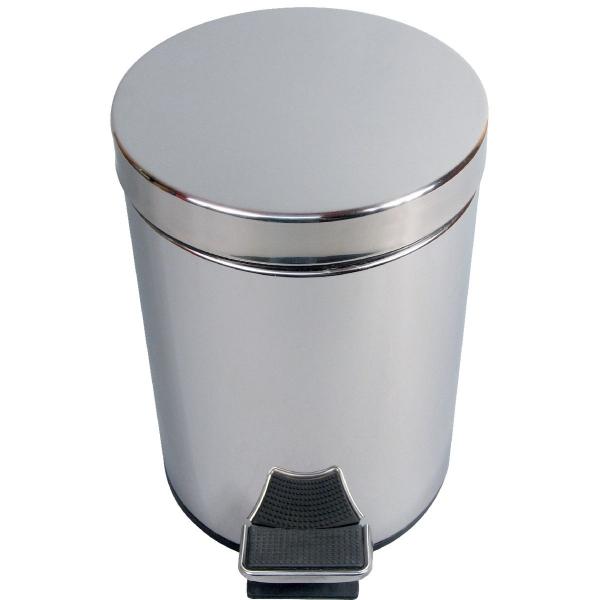 Poubelle à pédale - 5 L - inox - JVD