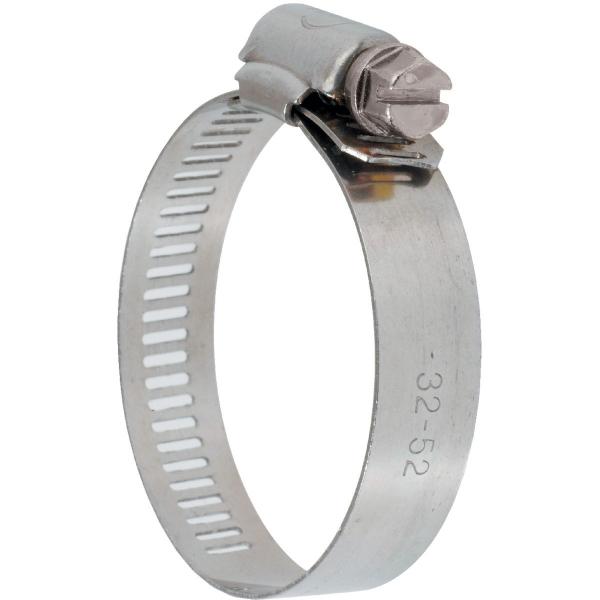 Collier bande perforée W2 inox /acier zingué - 13 mm - Serrage 32 - 52 mm - Boîte de 25 pièces - Ace