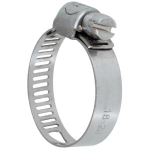 Collier bande perforée W4 inox - 8 mm - Serrage 25 - 45 mm - Boîte de 25 pièces - Ace