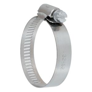 Collier bande perforée W4 inox - 13 mm - Serrage 32 - 52 mm - Boîte de 25 pièces - Ace