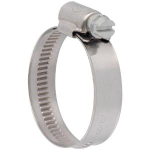 Collier bande non perforée W4 inox - 12 mm - Serrage 25 - 40 mm - Boîte de 25 pièces - Ace