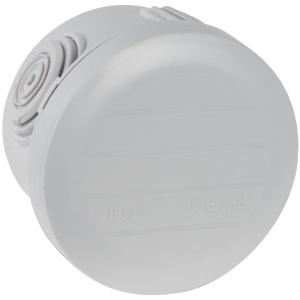 Boîte grise ronde - Ø 60 x 45 mm - 4 embouts - Couvercle enclipsable - Plexo - Legrand