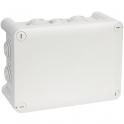Boîte grise rectangulaire - 180 x 140 mm - 10 embouts - Couvercle vis 1/4 de tour - Plexo - Legrand