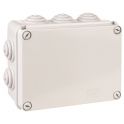Boîte grise rectangulaire - 190 x 140 mm - 10 embouts - Couvercle vis 1/4 de tour - Gewiss