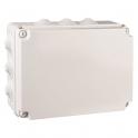 Boîte grise rectangulaire - 300 x 220 mm - 12 embouts - Couvercle vis 1/4 de tour - Gewiss