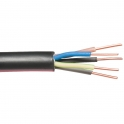 Câble rigide industriel U1000 R2V noir - 5G6 mm² - Au mètre - Lynelec