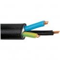 Câble rigide industriel U1000 R2V noir - 3G6 mm² - Au mètre - Lynelec