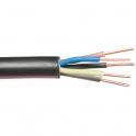 Câble rigide industriel U1000 R2V noir - 5G10 mm² - Au mètre - Lynelec